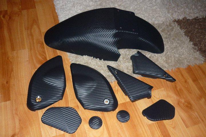 bandit forum carbon 3d folie sticker. Black Bedroom Furniture Sets. Home Design Ideas